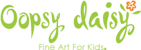 Oopsy Daisy  Fine Art for Kids Logo