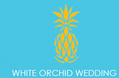 White Orchid Wedding Logo